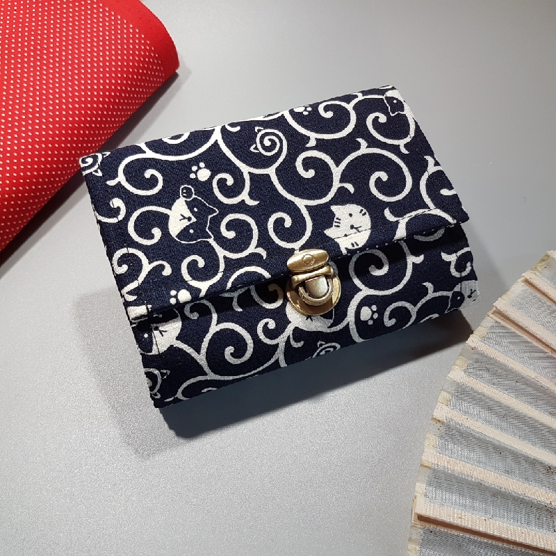Coin Purse Card wallet  - koneko blue