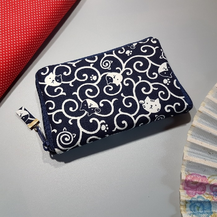 "5.5"" zippered Cards and coins wallet - koneko"