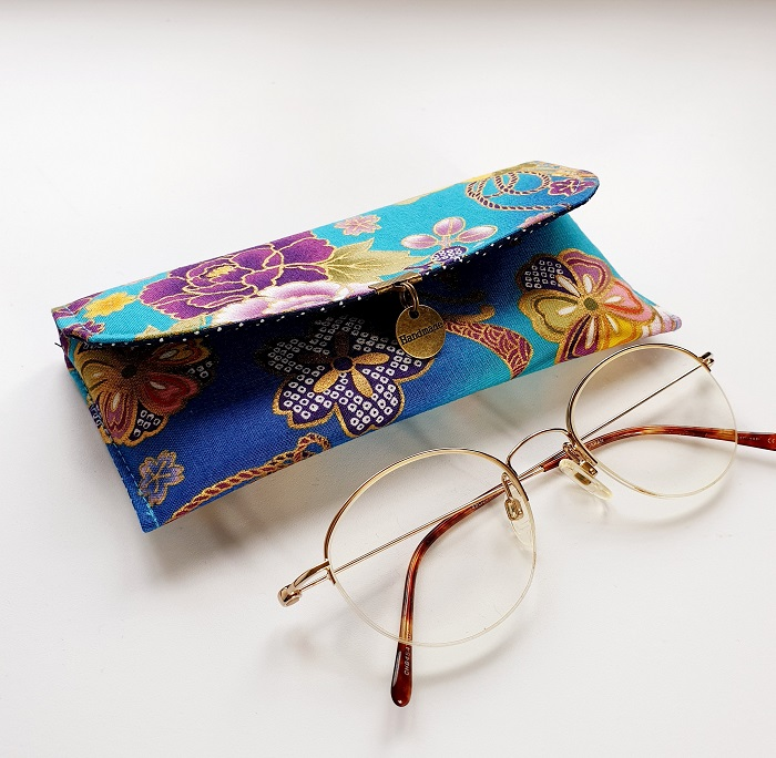 Glasses case custom made - Akane turquoise