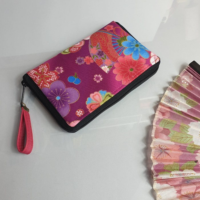 "5.5"" zippered Cards and coins wallet - Akane"
