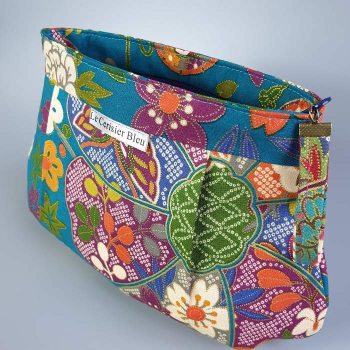 Makeup pouch - Yuka blue green