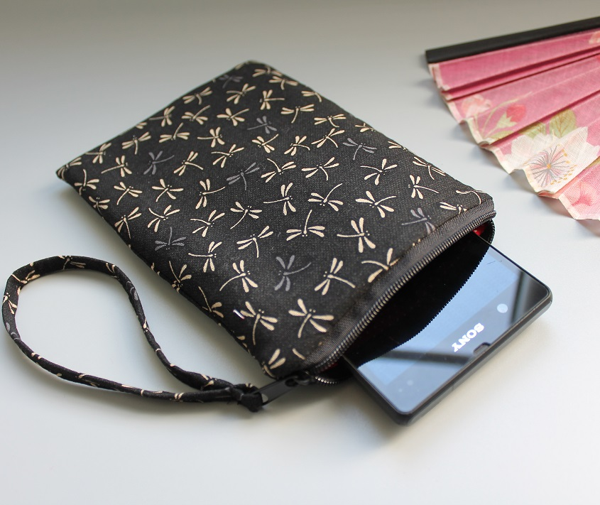 Smartphone sleeve - zipper closure - Tombo