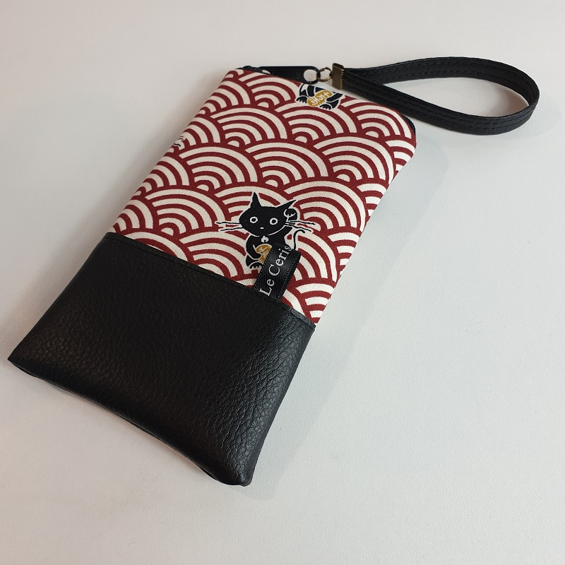 Smartphone sleeve - zipper closure - Maneki