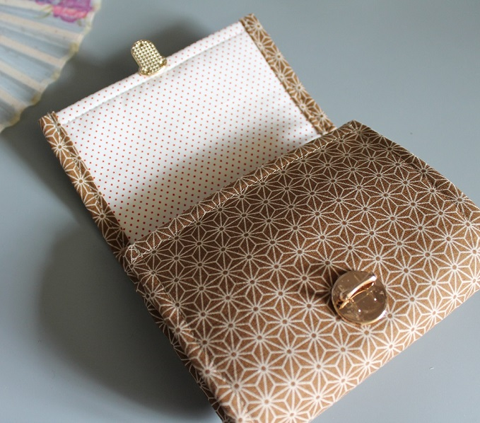 Coin Purse Card wallet  -  Asanoha beige