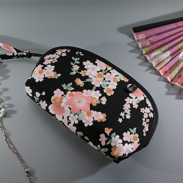 cosmetic make up pouch  - Ayami black pink
