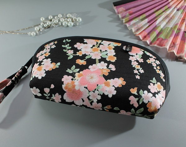 Trousse à maquillage - Ayami noir rose