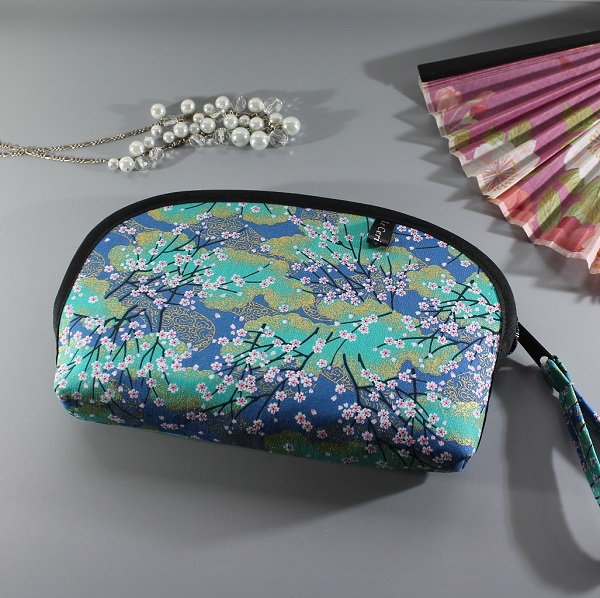 cosmetic make up pouch  - Akina turquoise
