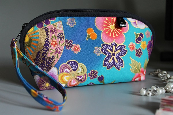 cosmetic make up pouch  - Akane turquoise
