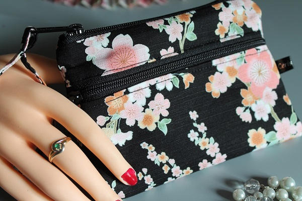 Coin purse 2 zippered pockets - Ayami