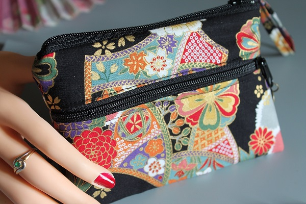 Coin purse 2 zippered pockets - Kana