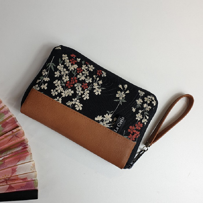 "5.5"" zippered Cards and coins wallet - Aki"