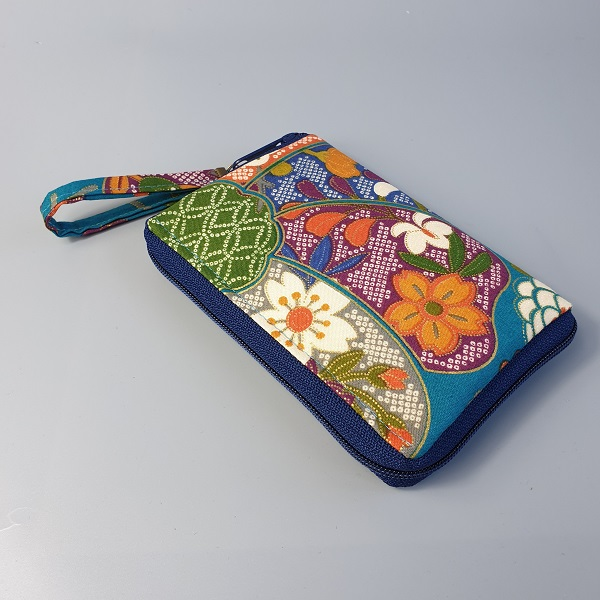 "5.5"" zippered Cards and coins wallet - Yuka green"
