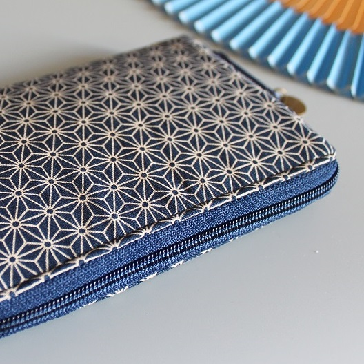 "5.5"" zippered Cards and coins wallet - Asanoha"