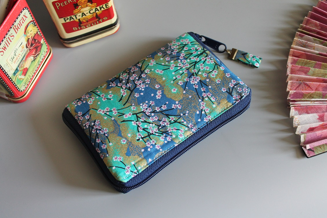 "5.5"" zippered Cards and coins wallet - Akina"