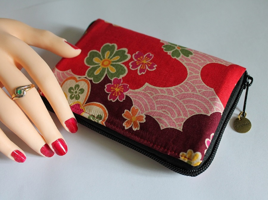 "5.5"" zippered Cards and coins wallet - Akemi"