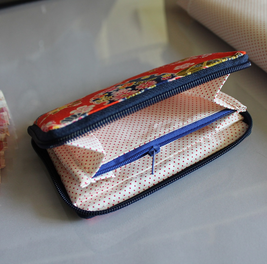 "5.5"" zippered Cards and coins wallet - Orange"