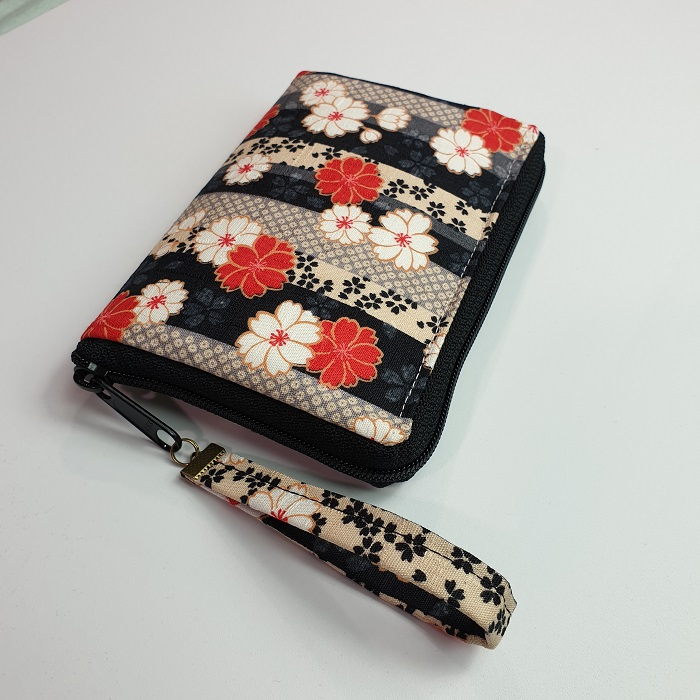 "5.5"" zippered Cards and coins wallet - Hanako"