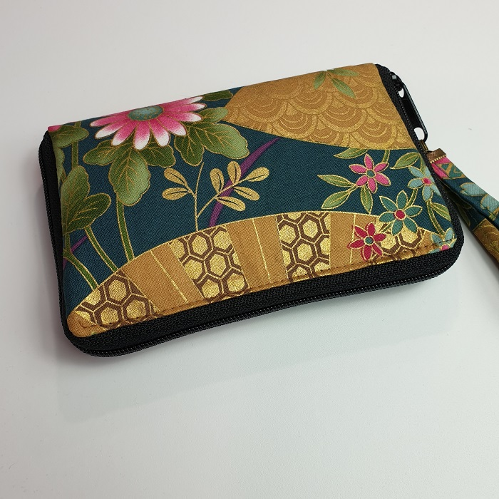 "5.5"" zippered Cards and coins wallet - Reika green"