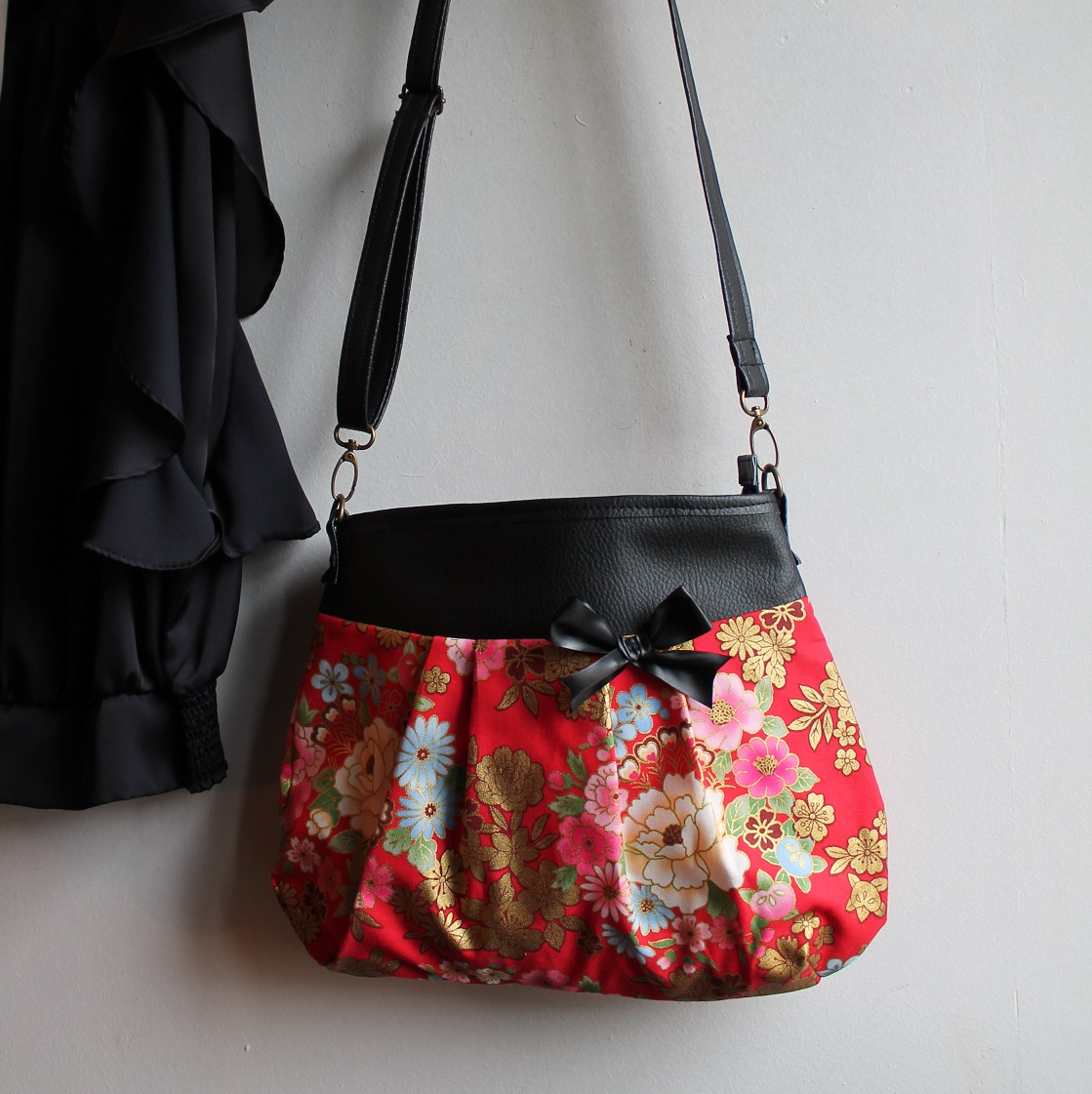 Crossbody - shoulder bag - Kanako rouge