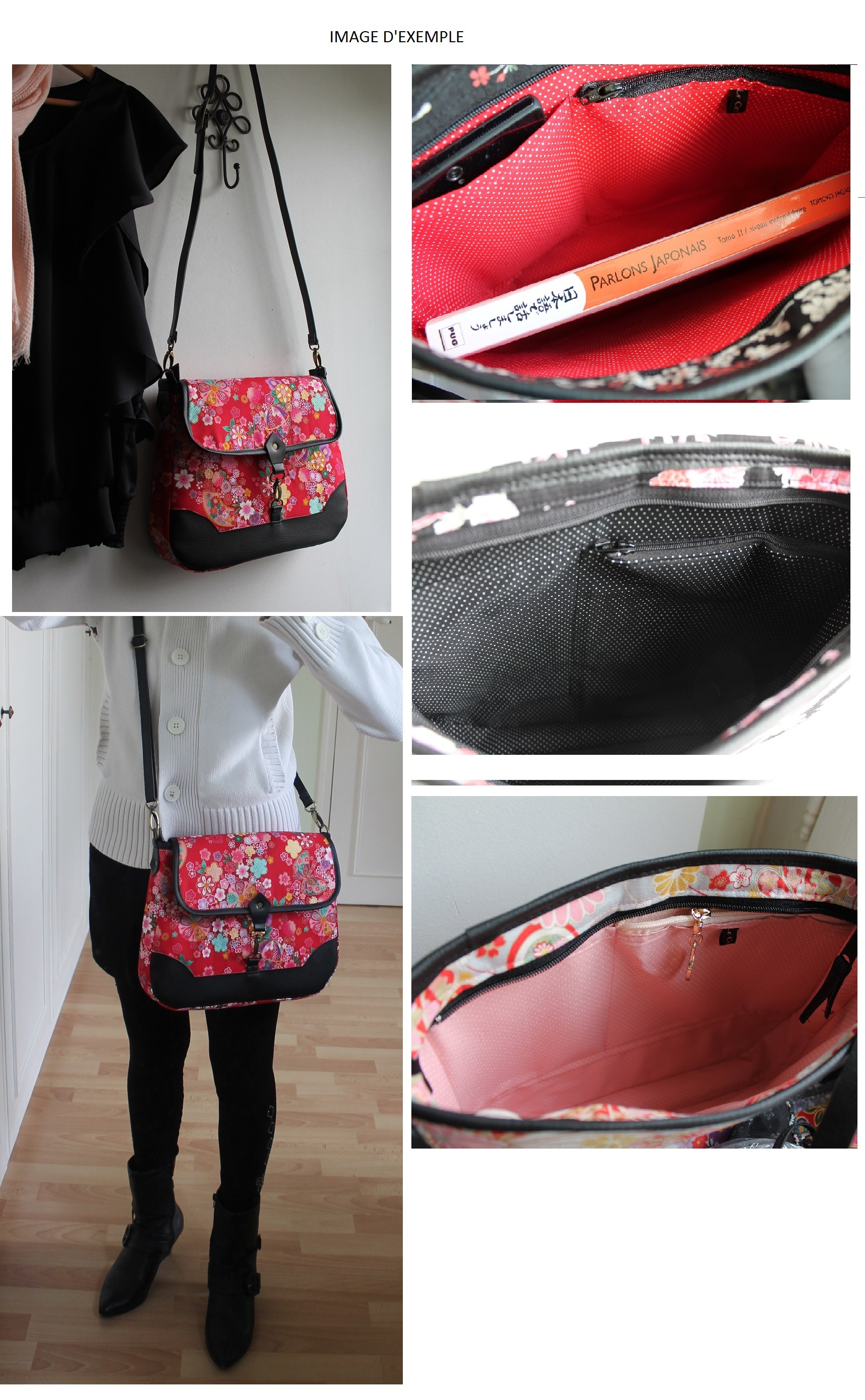 Cross body messenger bag - Aki