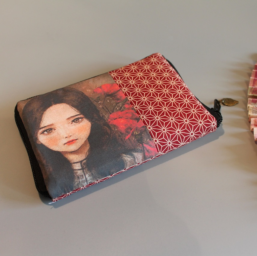 "5.5"" zippered Cards and coins wallet - special7"