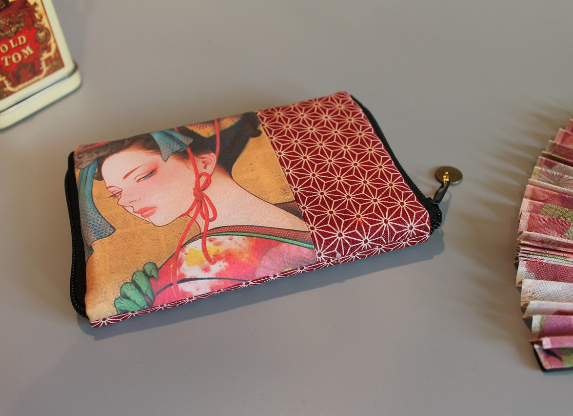 "5.5"" zippered Cards and coins wallet - special8"