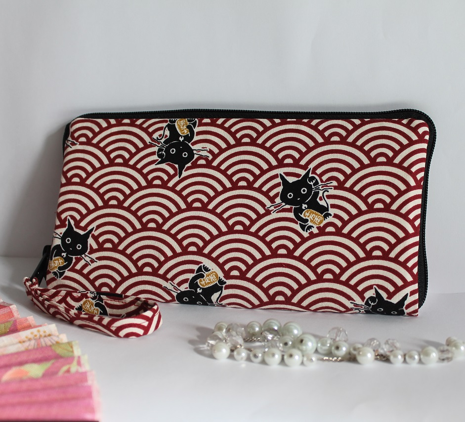 "8.3"" long zippered wallet - Maneki"