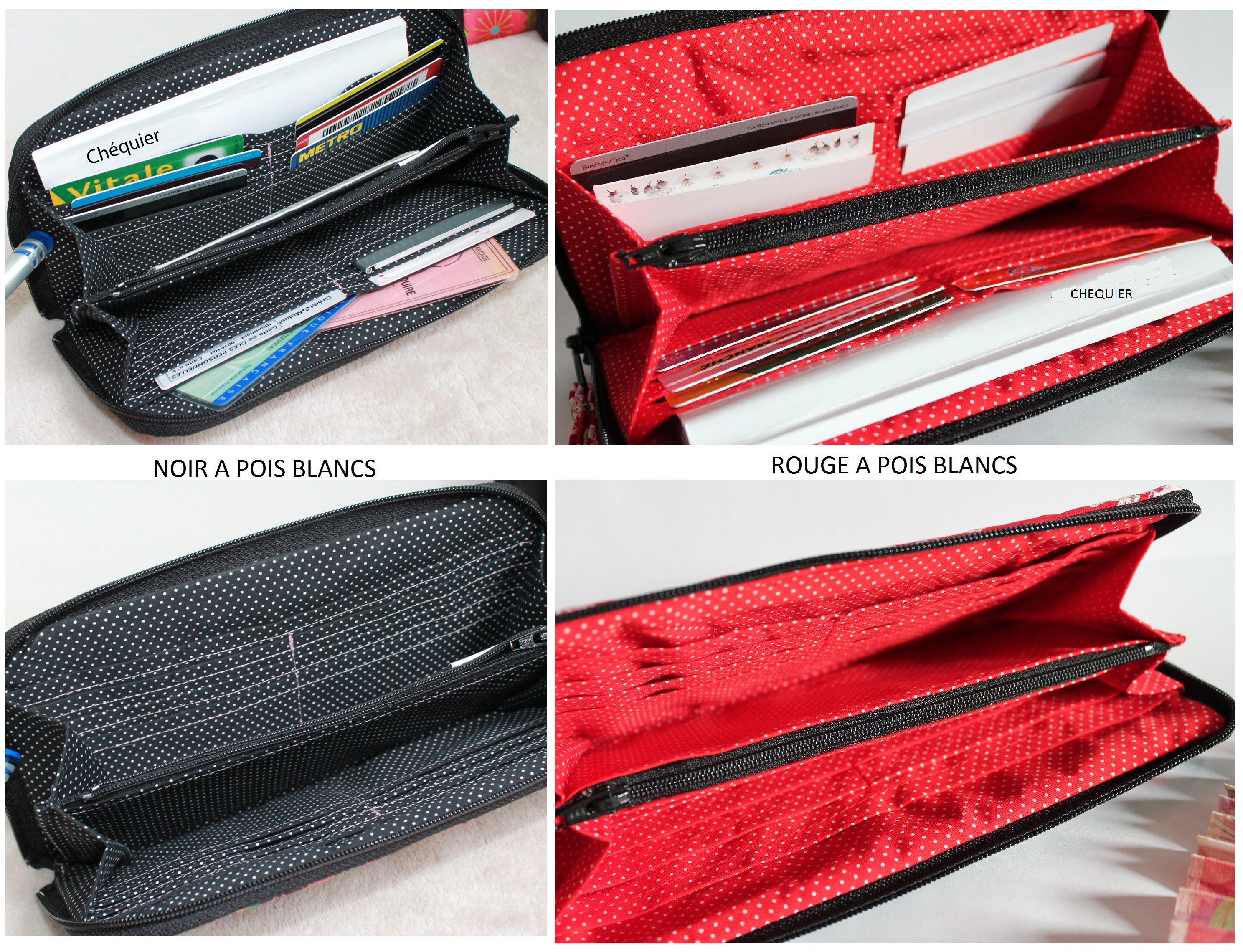 "8.3"" long zippered wallet - Akina"